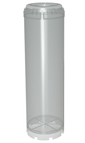 """10"""" Reusable Empty Clear Cartridge Water Filter Housing Various Media Refillable"""