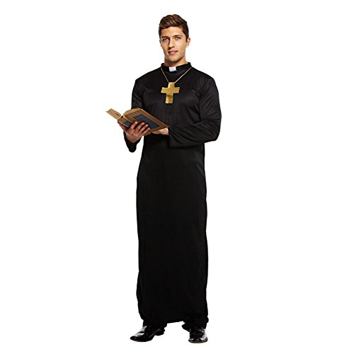 Vicar Adult Fancy Dress Costume (Black) - Children's Vicar Costume