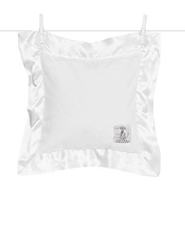 Little Giraffe Luxe Solid Pillow, White, 14