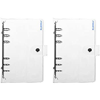 Amazon.com : A5 6-ring Clear Binder Covers Transparent Soft ...