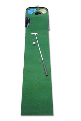 パッティングマット、パター、ゴルフボール、ゴルフ冷蔵庫用マグネット付きセベゴ製コンプリート屋内ゴルフトレーニングセット   B01MSUKRCK