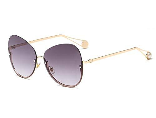 Protección Guay Huyizhi sol para viajar Gafas pesca UV400 de de gafas marco conducción medio Golden unisex Gafas de sol 0dS14dr