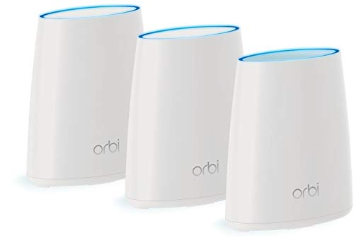 NETGEAR Orbi Whole Home Mesh WiFi System - 3 Pack Route r& 2 Mini satellite extenders RBK43 (Renewed)