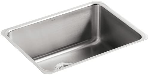 KOHLER K-3325-NA Undertone Extra-Large Squared Undercounter Kitchen Sink, Stainless Steel