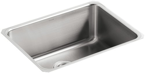 KOHLER K-3325-NA Undertone Extra-Large Squared Undercounter Kitchen Sink, Stainless Steel ()