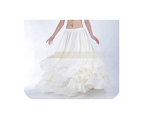 Belly Dance Chiffon Belly Dancing Skirt for Women Belly Dance Costumes,Skirt Length 96Cm,One Size]()