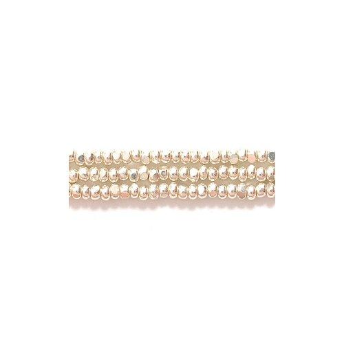 Preciosa Ornela Czech Seed Bead, True Cut Metallic Silver, Size (Charlotte Cut Seed Beads)
