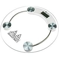ZELENOR Digital Bathroom Personal Round Tempered Glass Health BodyZE Weighing Scale