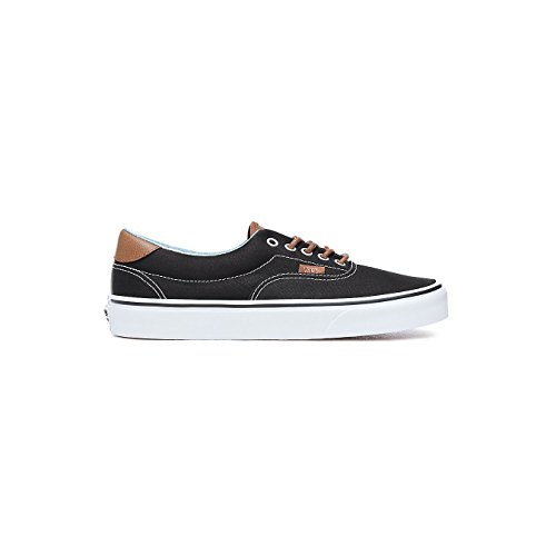 Vans Mens Era 59 (C&L) Black/Acid Denim Skateboarding Sneakers VN0A38FSQ (11.5 Women/10 Men M US, Black/Acid Denim)