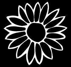 Amazoncom Sunflower Decal Vinyl Stickercars Trucks Vans Walls