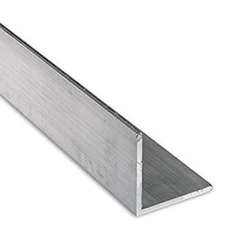 """Aluminum Angle 3//4/"""" x 3//4/"""" x 1//16/"""" Clear Anodized 6 Foot"""