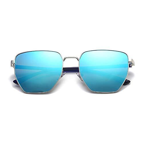 Dames Classiques Maybesky Style Unisexe Hommes de Couleur Soleil Lunettes Soleil de Protection Bleu de polygonales Bleu Lunettes IOzr4