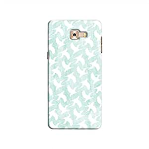 Cover It Up - White Bird Print Galaxy C9 Pro Hard Case