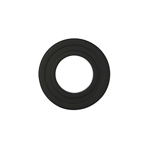 Kamino - Flam - Rosetón para tubo de chimenea, Acero rosetón conector para sistema de chimeneas, estufas, ventilaciones, Negro, Ø 80 mm: Amazon.es: ...