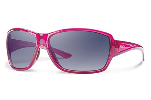 Smith Optics Women's Pace Sunglasses, Crystal Plum Frame, Indigo Gradient Carbonic TLT Lenses