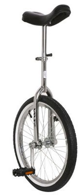 "20"", Steel, Chrome Unicycle"