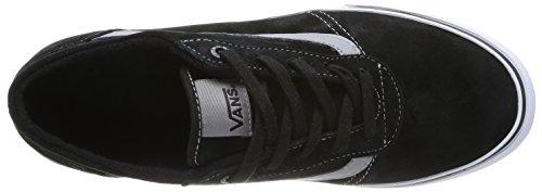Vans Milton, Women's Sneakers Black (Mte Black/White)