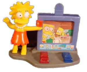 Lisa Simpson Burger King Kids Meal Toys Creepy Classics -