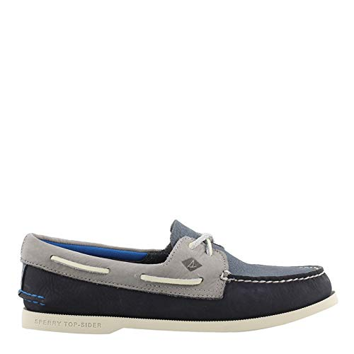 Sperry Top-Sider Authentic Original Plush Washable Boat Shoe Men 13 Navy/Grey
