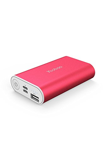 Portable Power Bank, Yoobao 6000mAh Ultra Compact Portable Charger Powerbank External Battery Pack Cellphone Battery Backup (Lightning & Micro Dual Input) Compatible iPhone Samsung Cell Phone - Red by Yoobao