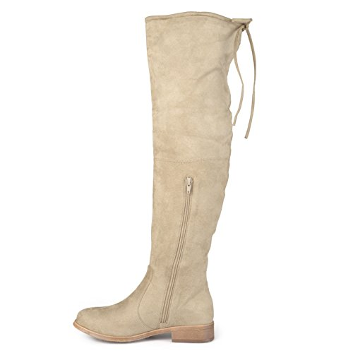 Journee Samling Kvinner Over-the-knee Faux Suede Boots Taupe