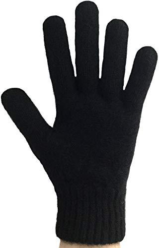 PossumDown Lightweight Brushtail Possum Merino Wool Blend Gloves (XLarge, Black) ()
