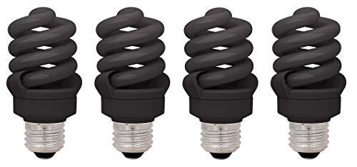 (60 Watt CFL, 4 Pack, Black Spiral Light)