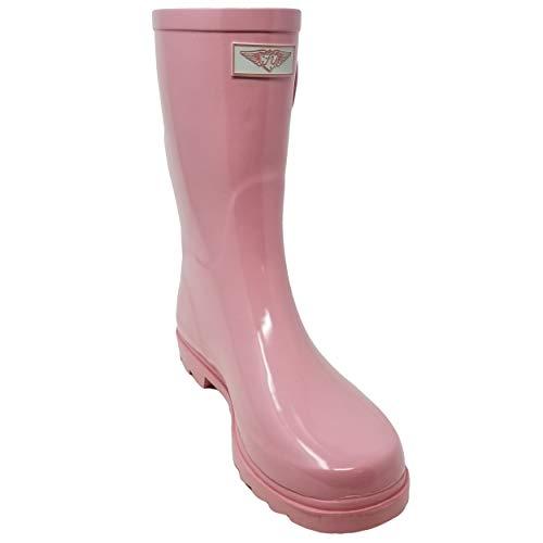 (Women Rubber Rain Boots Mid-Calf 11