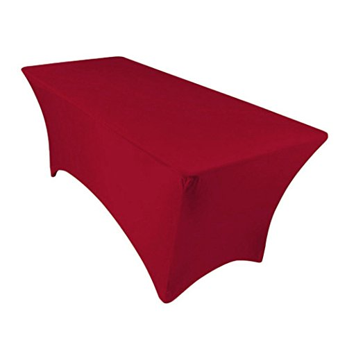 - GFCC 4FT Red Rrectangular Stretch Tablecloth