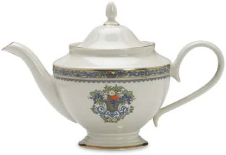 Lenox Autumn Gold Banded Ivory China Teapot with Lid - 6041289
