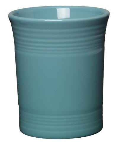 Fiesta 6-5/8-Inch Utensil Crock, Turquoise - Ivory Place Spoon