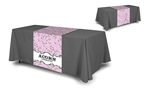 Personalized Add Your Own Logo Custom Tablecloth 6' Burgundy Table Cover - Table Throw for $<!--$83.99-->
