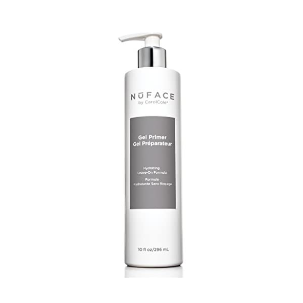 NuFACE Hydrating Leave-On Gel Primer | Use with NuFACE Device | Smooths Skin, Reduce Wrinkles | Lightweight Application | 10 Fl Oz