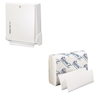 (KITGEP20887SJMT1905WH - Value Kit - Georgia Pacific Z Paper Towels (GEP20887) and San Jamar True Fold Metal Front Cabinet Towel Dispenser (SJMT1905WH))