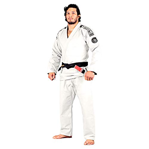 Bad Boy - Foundation BJJ Gi - Ultra Light Weight, 100% Rip Stop, Preshrunk, White Belt Included - (White - A3)
