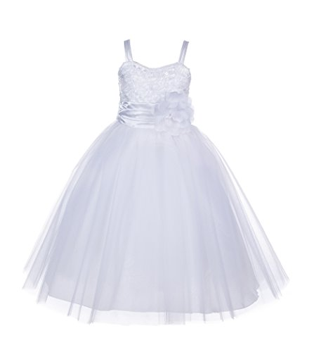 ekidsbridal Spaghetti-Straps Sequin Tulle Flower Girl Dress Birthday Girl Dress B-1508NF 4