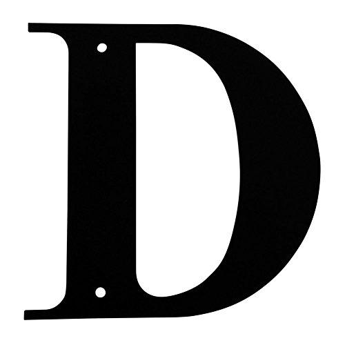 Iron Address Letters House Letter D 6 Heavy Duty Metal