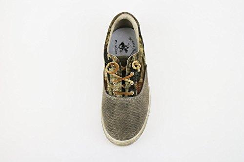BEVERLY sneakers uomo beige camoscio tessuto CLUB AH990 POLO HILLS OwqaxnPrOz