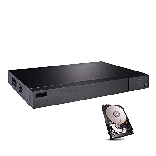 HDView 12CH Security HD DVR/NVR, with 1TB Hard Drive, 8 Channel (TVI/AHD/CVI/960H) Cameras and 4 Channel ONVIF IP Cameras, Surge Protection COC Commercial Grade (Channel Dvr 8 Board)