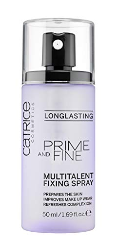 Catrice Prime & Fine Multitalent Fixing Spray - Transparent Fast-Drying Fixing Spray, Vegan (Best Of Catrice Makeup)
