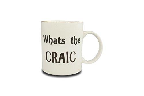 What's the Craic' Irish Saying Range Mug by Shannonbridge Pottery