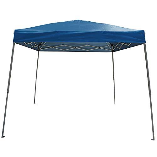 Polar Aurora 10' X 10' 5 Color Slant Leg Easy Pop up Popup Canopy Party Sun Shade Tent (Blue)