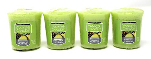 - Yankee Candle Pineapple Cilantro Scented Votive Candles - Set of 4