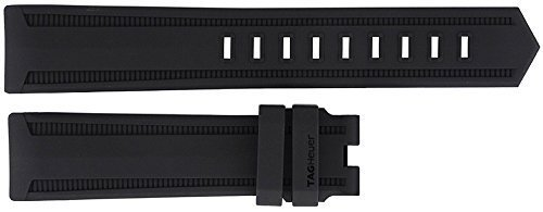 TAG Heuer 21MM Black Rubber Strap FT8019 by TAG Heuer (Image #1)