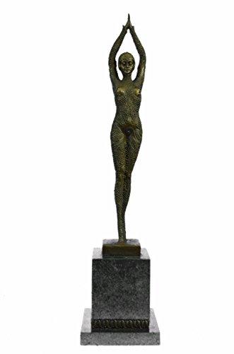 Handmade European Bronze Sculpture SIGNED ART NOUVEAU DECO CHIPARUS FIGURINE ART FIGURE Bronze Statue -EP-184-Decor Collectible Gift