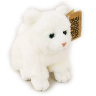 Living Nature Smalll Soft Toy Cat ~ White by Living Nature