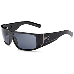 Spy Optic Hailwood Sunglasses,Shiny Black Frame/Grey Lens,one size