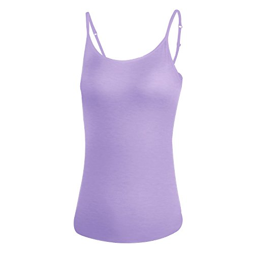 DR. MAのGOTEK Camisoles For Women With Built-In Shelf Bras, Comfortable Padded Bra Women Cami, Adjustable Straps Cotton Tank Top M