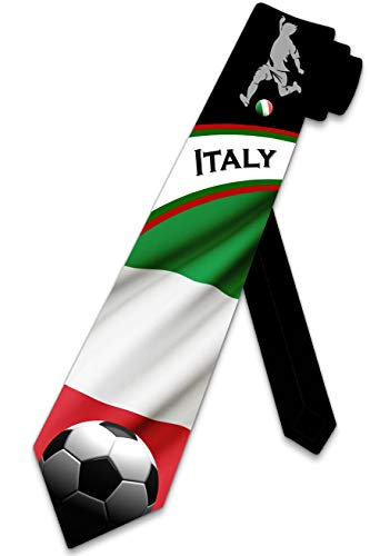 Sports Ties Mens Italy Tie Soccer Necktie by Three Rooker