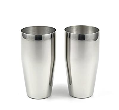 StainlessLUX 77366 2-piece Brilliant Stainless Steel Tumblers / (24 Oz) Drinking Glass Set - Quality StainlessLUX Drinkware for Your Enjoyment